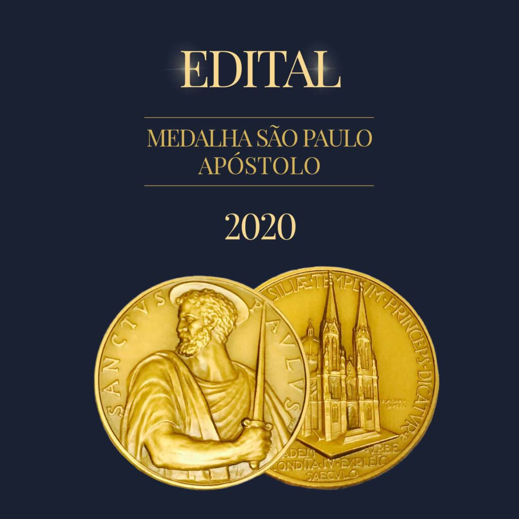 Edital da Medalha São Paulo Apóstolo 2020