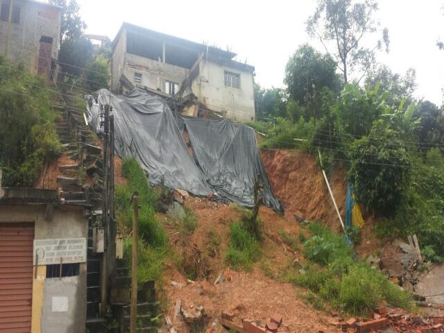 Município de São Paulo tem 485 áreas de risco para deslizamentos